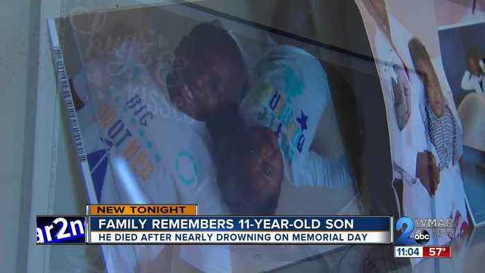 Family remembers 11-year-old son who died after near drowning on Memorial Day