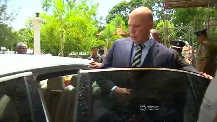 Australia's home minister visits bombed Sri Lankan Church