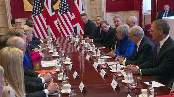 """Trump tells British PM: """"We'll have a very substantial trade deal"""""""