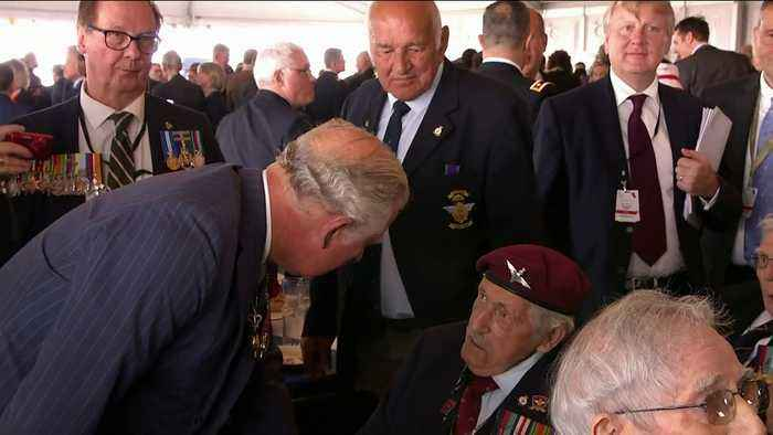 Prince Charles and Donald Trump meet veterans and families