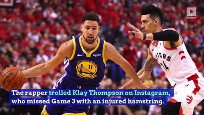 Drake Trolls Klay Thompson After Raptors Win NBA Finals Game 3