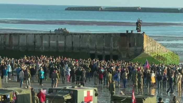 Piper marks moment first British soldier landed on Normandy beach