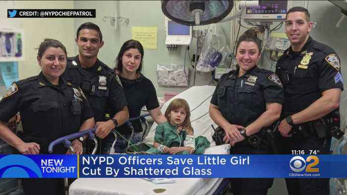 NYPD Saves 2-Year-Old Cut By Shattered Glass