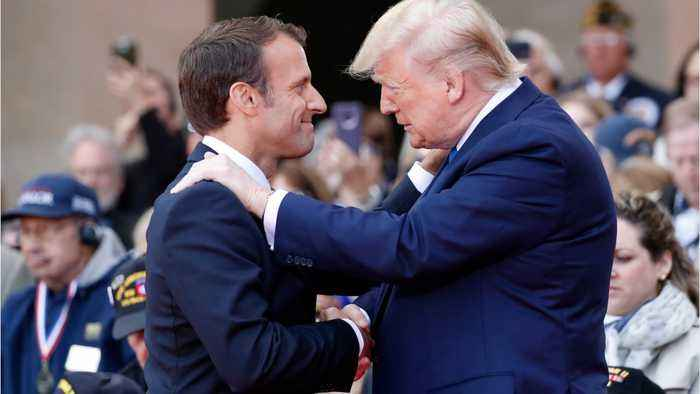Trump, Macron Honour D-Day Veterans Who Fought Through 'Fires Of Hell'