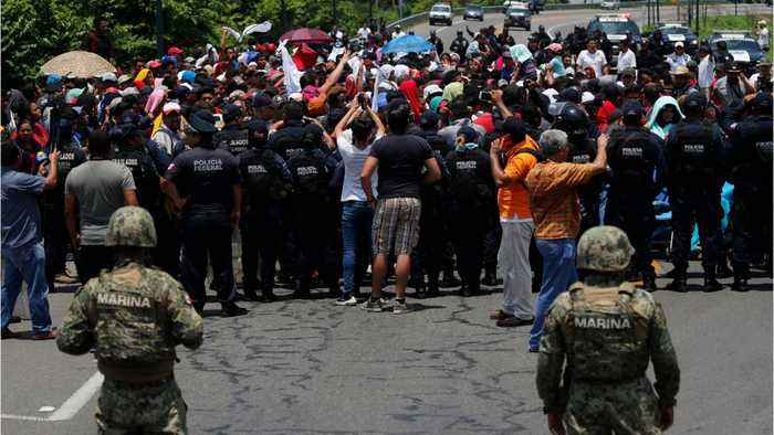 Mexico Sends Armed Forces To Meet Migrants At Guatemalan Border