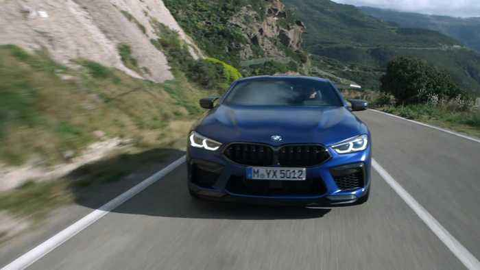 The new BMW M8 Coupé Driving Video
