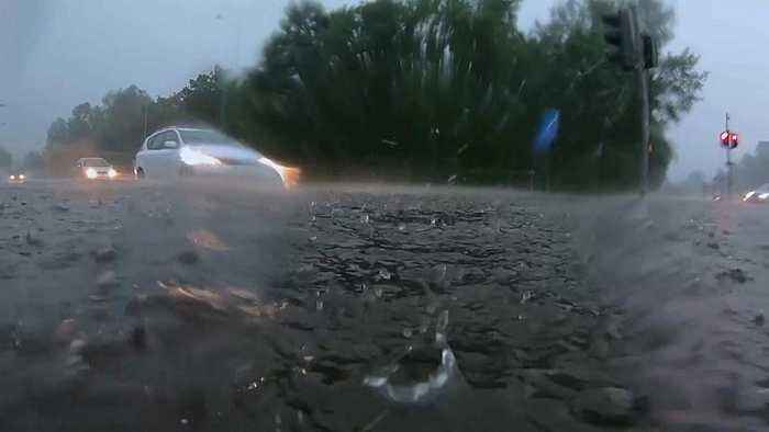 Torrential rain causes flooding in western Poland