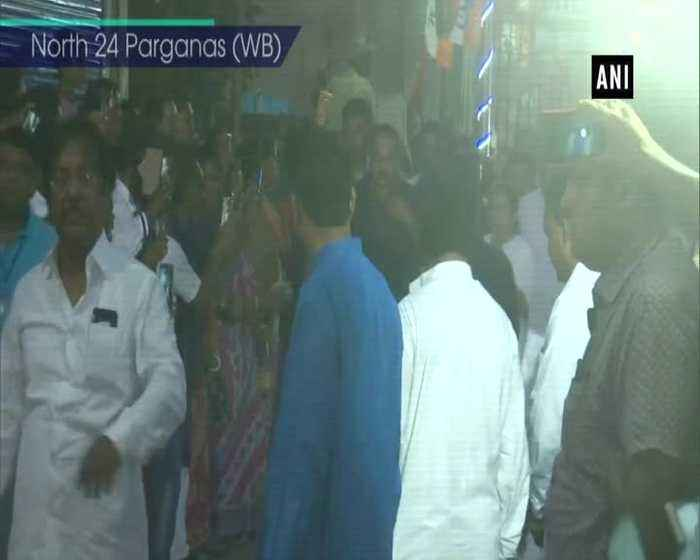Mamata Banerjee visits home of TMC leader killed in North 24 Parganas