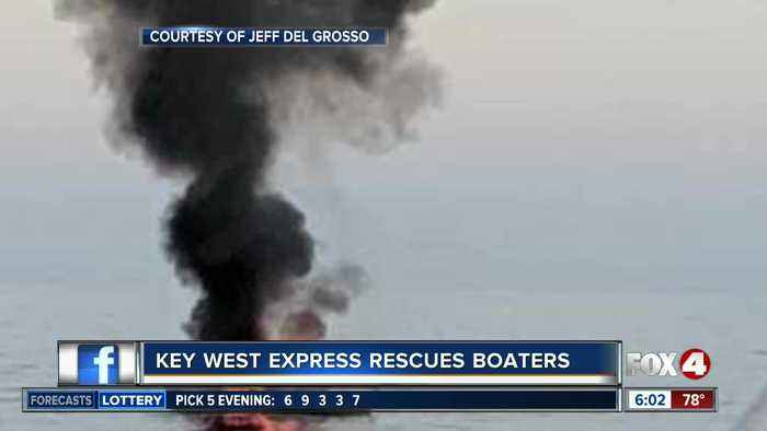 Boaters rescued from fire by Key West Express