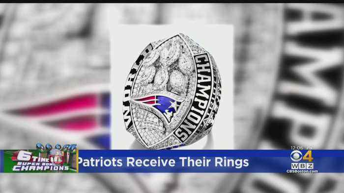 The Patriots Receive Their Super Bowl Rings