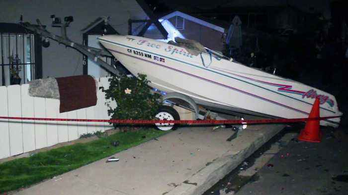 Pregnant Woman Hurt When Hit-And-Run Driver Sends Boat into Home