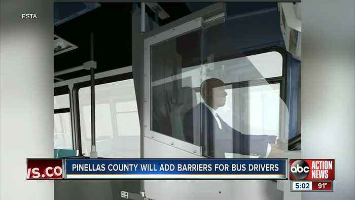 PSTA approves new safety barriers on all buses to protect drivers