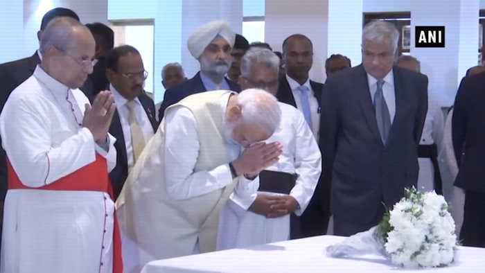 PM Modi, first world leader to visit Lanka after bombings; pays tribute to victims