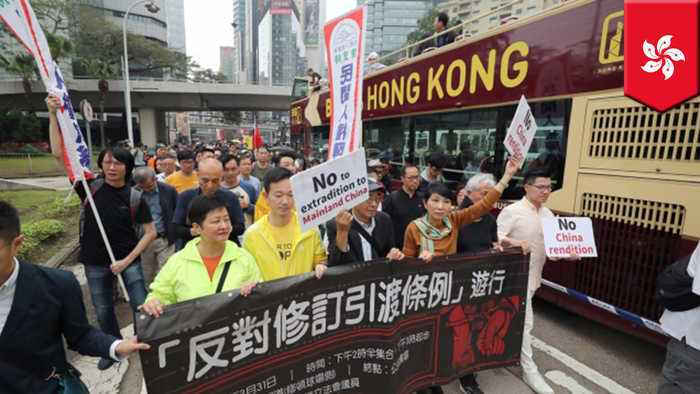 Hong Kong protesters march against China extradition bill