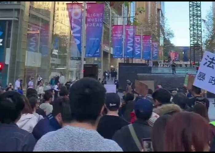 Demonstrations Held in Sydney to Protest Hong Kong Extradition Bill