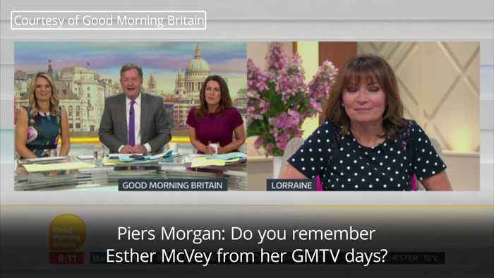 Lorraine Kelly and Esther McVey in awkward tv exchange