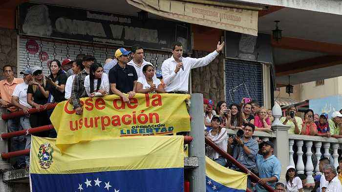 Venezuelan opposition leader Juan Guaidó claims mediation efforts to end the crisis have stalled