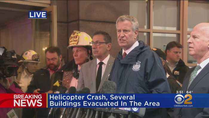 Mayor De Blasio, Officials News Conference On Helicopter Crash