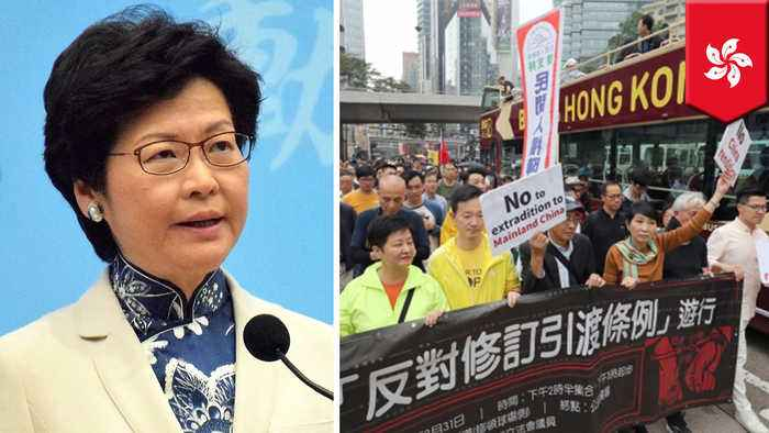 HK leader to push ahead with extradition bill despite protests