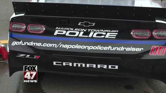 GoFundMe for local police dept. unveiled at Firekeepers Casino 400