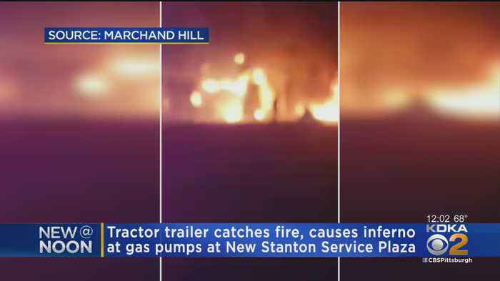 Truck Bursts Into Flames At Pa. Turnpike New Stanton Service Plaza