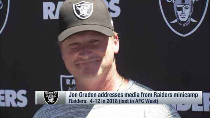 Oakland Raiders head coach Jon Gruden on possibility of Raiders on HBO's 'Hard Knocks': 'That'd be awesome, wouldn't it?'