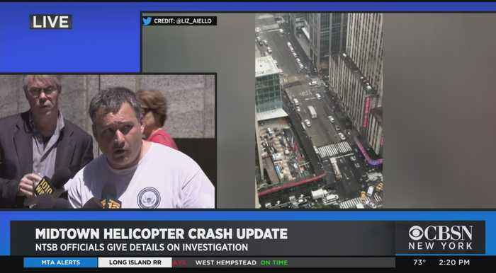 NTSB Official Updates On Midtown Helicopter Crash