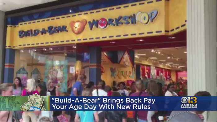 Build-A-Bear Workshop Bringing Back 'Pay Your Age' Day