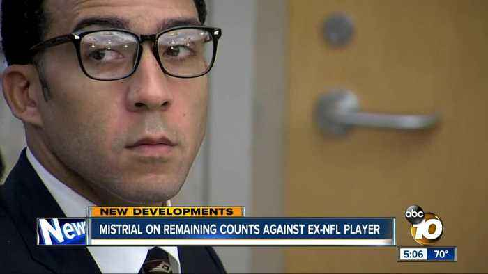 Mistrial on remaining counts against ex-NFL player