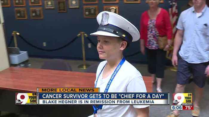10-year-old cancer survivor gets to be Cincinnati's police chief (for a day)