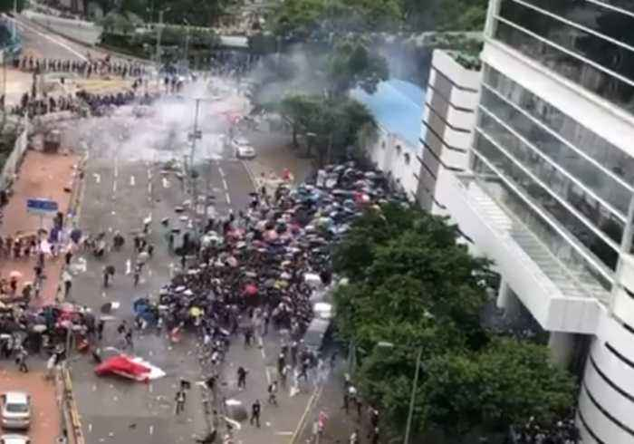 Hong Kong Police Use Tear Gas as Protest Declared a Riot