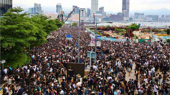 Tens Of Thousands Protest Extradition Bill In Hong Kong