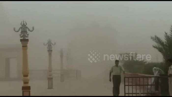 Strong winds and dust batter northwest India ahead of Cyclone Vayu