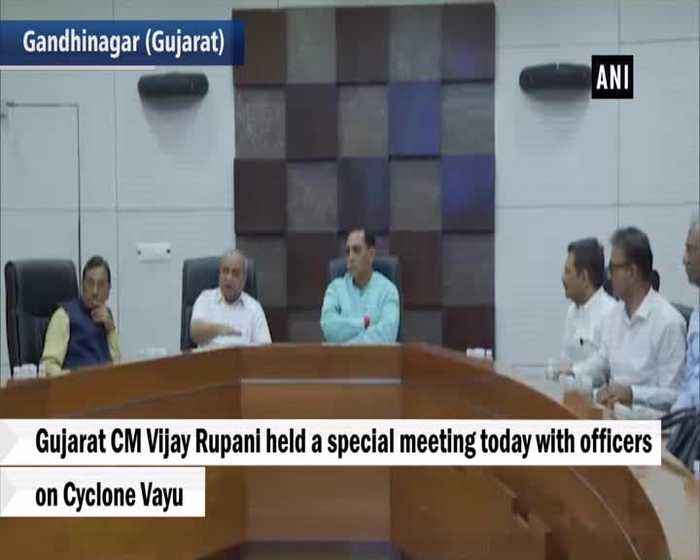 Cyclone Vayu CM Vijay Rupani holds meeting with officials