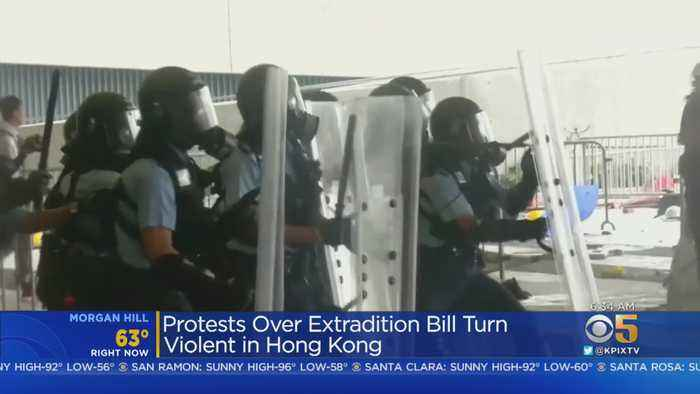 Hong Kong Protests Turn Violent Over Extradition Bill