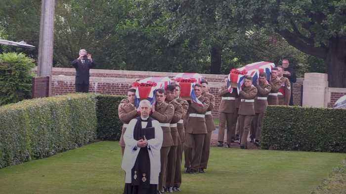 First World War soldiers buried 100 years after their deaths