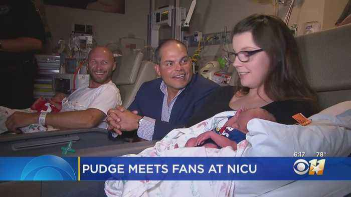 Rangers Great Pudge Rodriguez Visits Tiny Fans In NICU