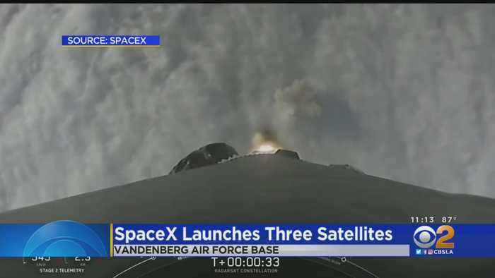 SpaceX Launches Falcon 9 Rocket From Vandenberg Air Force Base