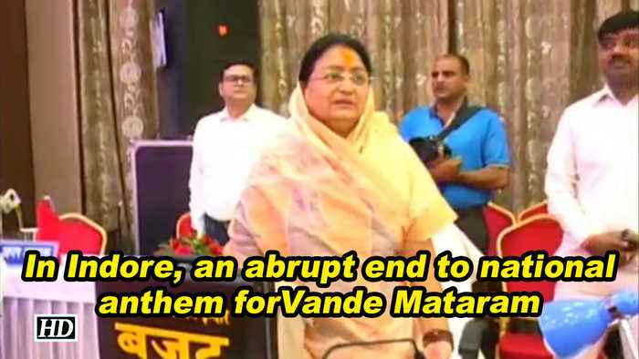 In Indore, an abrupt end to national anthem for Vande Mataram
