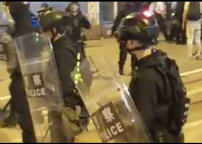 Demonstrators Face Off Against Police in Riot Gear as Hong Kong Protests Continue
