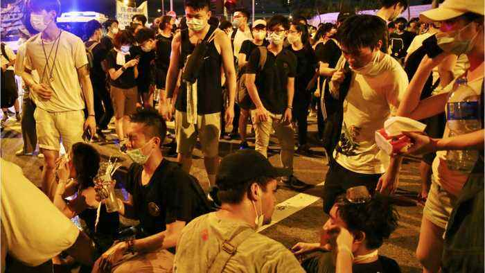 Hong Kong riots continue, at least 72 hospitalized