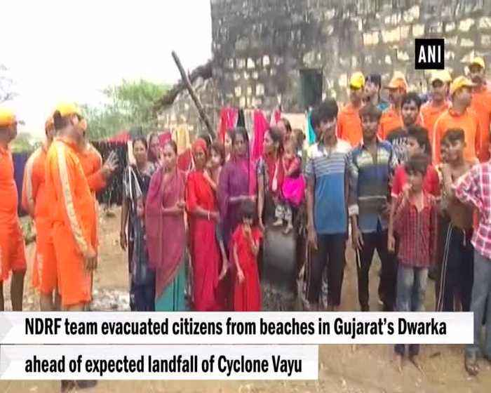 NDRF team evacuates beaches in Gujarat ahead of Cyclone Vayu