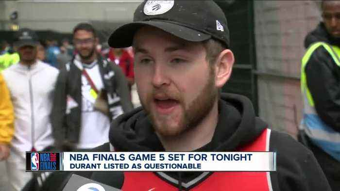 WKBW 7 Eyewitness News at Game 5 of NBA Finals