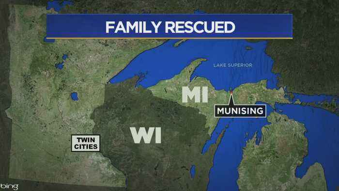 Family Rescued After Getting Stranded On Lake Superior