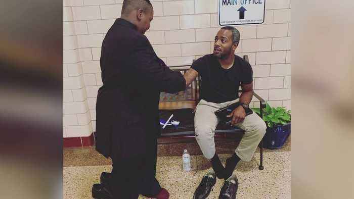Teacher Gives Shoes Off His Feet So Student Can Walk Across Graduation Stage