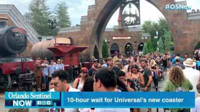 Universal: Harry Potter faithful wait 10 hours in line to ride new Hagrid coaster