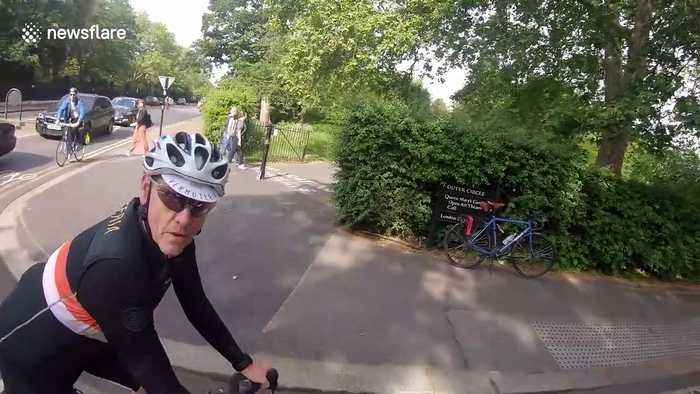 Cyclist confronts angry doctors who refuse to move from wrong side of road in London