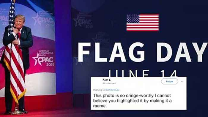 Flag Day: White House Tweet Slammed For Featuring Trump Hugging American Flag