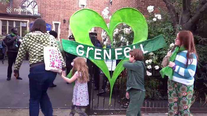 Heartfelt memorial for Grenfell Tower fire on 2nd anniversary