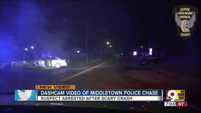 Cruiser cam video shows chase and violent crash in Middletown